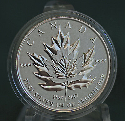 2017 CANADA $3 Silver Maple Leaf 1/4 oz Reverse proof from Fractional set