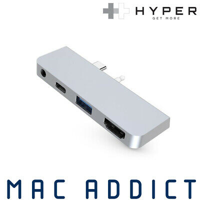 HyperDrive 4-in-1 USB-C Hub For Surface Go | 4K HDMI + 3.5mm Audio + USB + PD