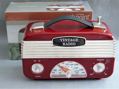 Northpoint Classic Collection 1960's Vintage Style AM/FM Portable Radio