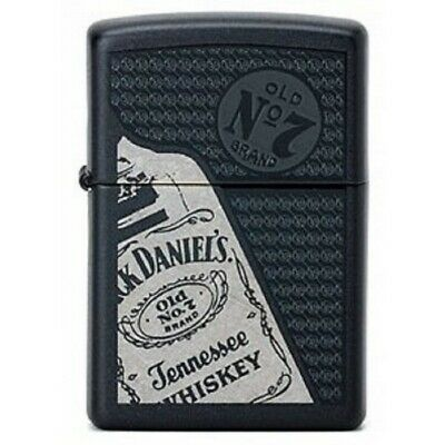Black Matte Jack Daniels Black Matte 24537 Zippo Lighter - AU Stock