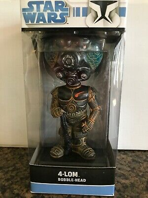 New In Box ~ Funko Star Wars 4-Lom Wacky Wobbler Bobblehead - 2008