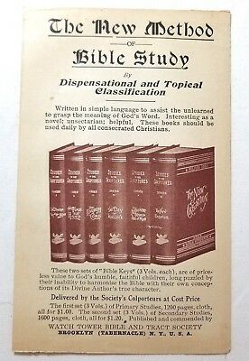 1909 TRACT DAILY Manna Brooklyn Tabernacle C T  Russell