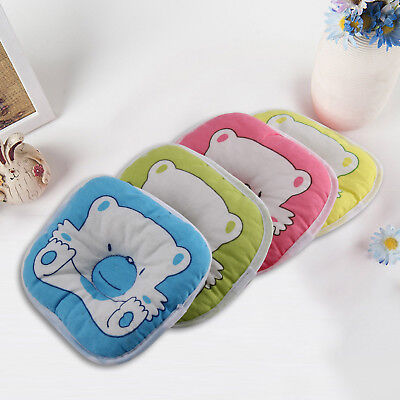 Bear Pattern Baby Pillow Newborn Infant Comfortable Cushion Prevent Flat Head
