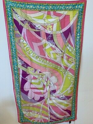 Foulard Stola Emilio Pucci 100% Autenthic Made In Italy