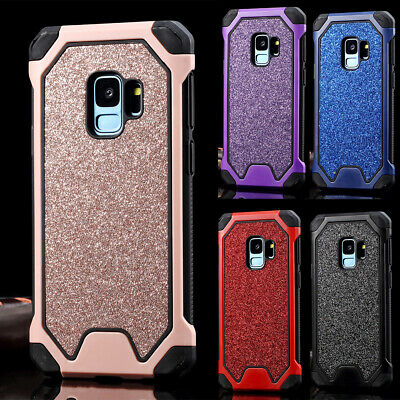 Samsung S8 S9 S10 Plus Hard Bling Case Heavy Duty Shockproof Hybrid Tough Cover