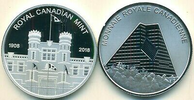 Canada 2018 RCM Building Medallion from Proof Set Pure Silver