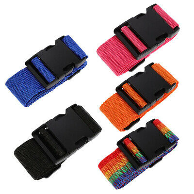 Travel Luggage Straps 5 Pack Suitcase Belts Straps with Name ID Tag Useful