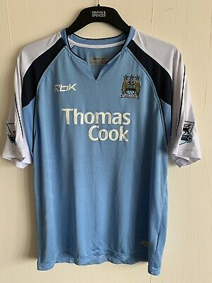 2006/2007 Manchester City home football shirt large men's Reebok Thomas Cook