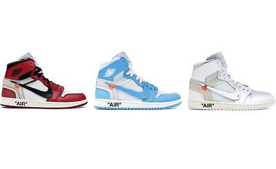 official photos 9c8dc ada70 NIKE AIR JORDAN 1 x Off-White | Red,Bue,White | Size 36-46 Eur