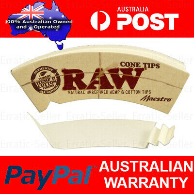 Raw Maestro Cone Wide Filter Tips Roach For Rolling Paper Chlorine Free Natural