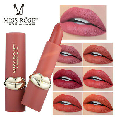 MISS ROSE Lipstick Matt Waterproof Long Lasting Lip Cosmetic Beauty Makeup 2019