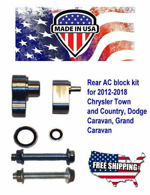 Rear Ac Block Off Kit For 2012-2016 Chrysler Town & Country And Dodge Caravan
