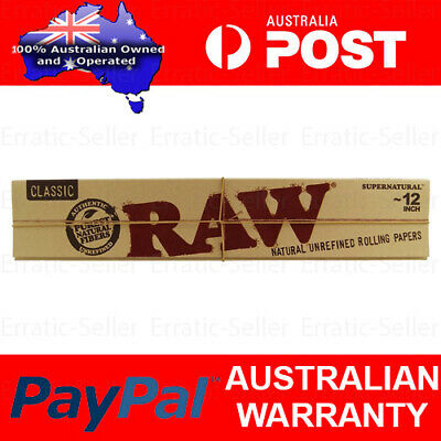 Raw Classic 12 inch Extra Long Supernatural Natural Unrefined Rolling Papers
