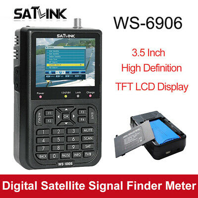 "3.5"" SATlink WS-6906 Digital Satellite Signal Finder Detector DVB-S FTA SAT Disk"