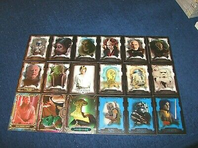 2016 Topps Star Wars Masterwork 18 Diff Cards W/ Sp's Parallels Inserts (18-28)