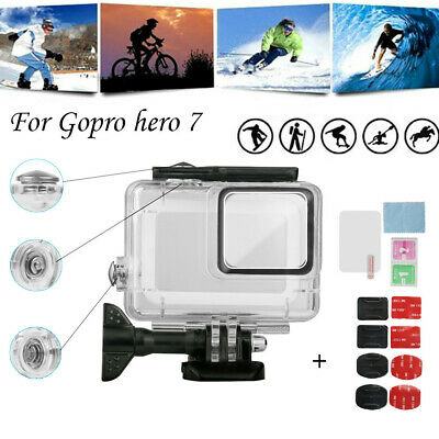 For GoPro Hero7 Kit White/Silver Waterproof Case Diving Protective Housing Shell