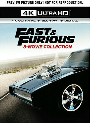 Fast And Furious 8-Movie Collection [New 4K Ultra HD] With Blu-Ray, 4K Masteri