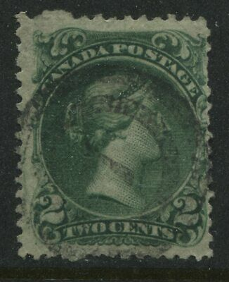 1868 Canada 2 cent green Large Queen used last printing order