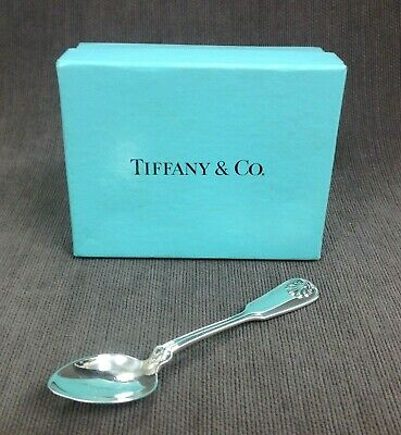 Authentic Tiffany & Co Shell & Thread Pattern Sterling Demitasse Spoon