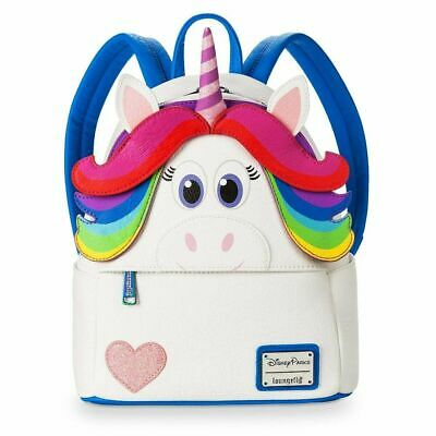Disney Parks Pixar Inside Out Rainbow Unicorn Mini Backpack Loungefly NWT