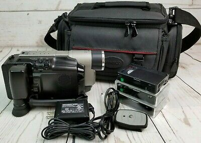 RCA VHS-C Camcorder 400X Model CC6364 Bag Battery Charging Cord AV Cables Tapes