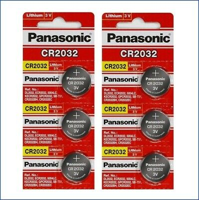 6 Panasonic CR2032 ECR2032 3v Lithium Battery Fresh USA Seller Exp. 2028