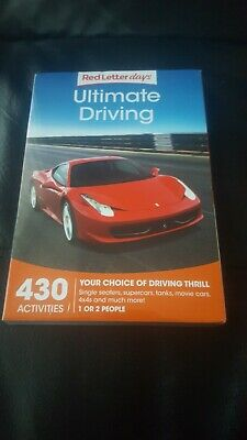 Red Letter Days Ultimate Driving Gift Voucher – 430 thrilling UK driving gifts