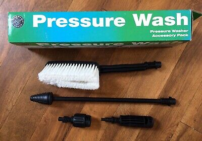 Pressure Washer Accessory Pack Car Wash Brush & Power Blaster Lance