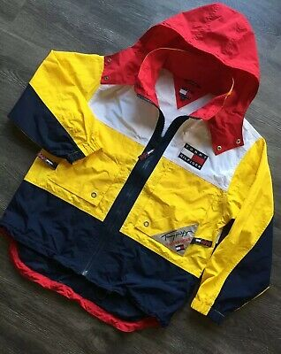 VINTAGE RARE TOMMY Hilfiger Windbreaker Jacket Big Logo