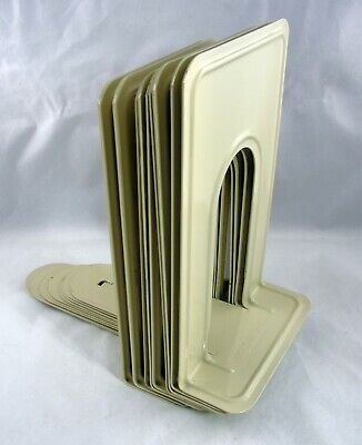 """Highsmith Vintage 9"""" Beige Library School Industrial Bookends 5 Pair (10 pieces)"""