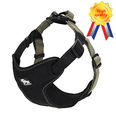 Pet Control Harness for Dog Oxford Walk Large Small Adjustable Reflective Khaki
