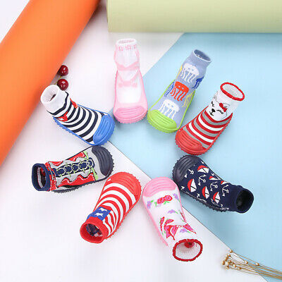 Newborn baby toddler sock shoes rubber sole baby boy non-slip cotton shoes socks