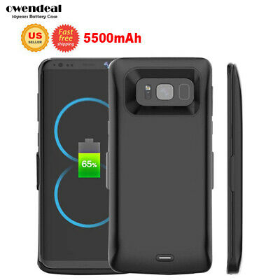 Portable Battery Charging Case For Samsung Galaxy S8 / S8Plus Clip Cover Charger
