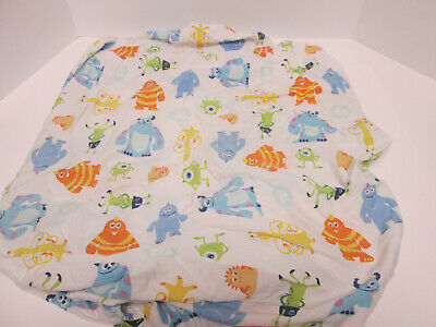 Monsters Inc Crib Fitted Sheet Toddler Bed Bedding
