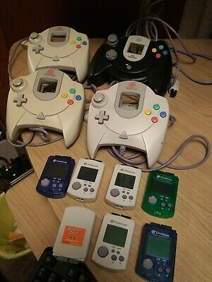 Dreamcast Controller+Memory Card Lot All Working