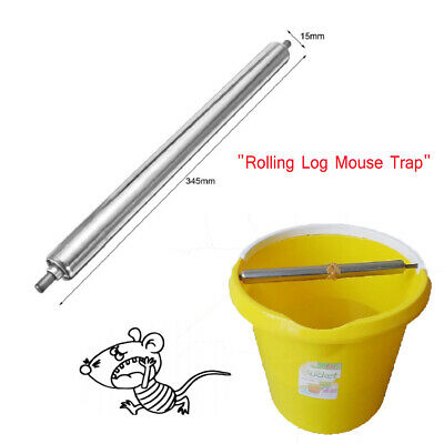 Rolling Mouse Mice Trap Rat Stick Rodent Spinning Trap Log Roll Bucket Catch