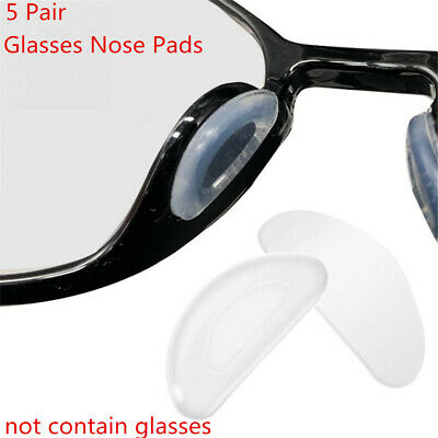 5Pair Comfortable Non-slip Silicone Glasses Nose Pads for Spectacles Eyeglass
