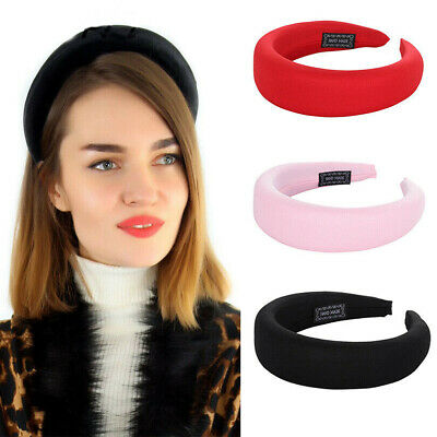 Ladies Velvet Headband Padded Hairband Wide Hair Band Accessories Headpiece Vy