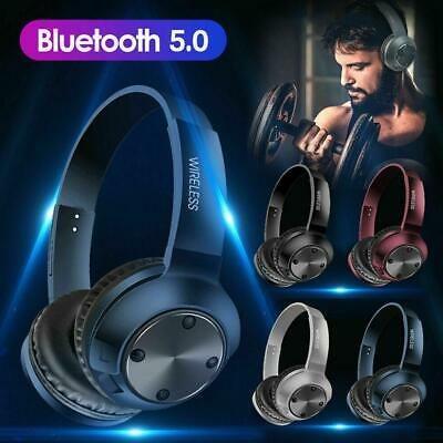 Wireless Bluetooth 5.0 Headphones Noise Cancelling Over Ear Headset With Mic HOT