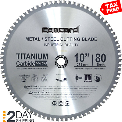 Ferrous Metal Cutting Blade Circular Saw Accessories Power Tool 10 Inch 80 Teeth