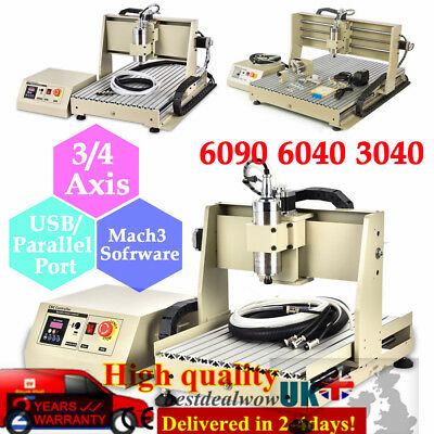 6040 3040 USB 3/4Axis CNC Router Engraver 800/1500W 3D Engraving Milling Machine