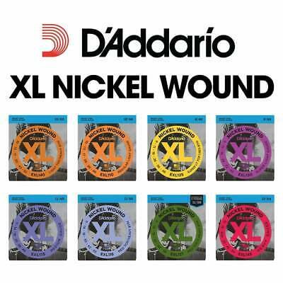 D'Addario XL Nickel Wound Strings for Electric Guitar (All Gauges)