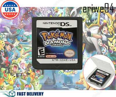 🔥New Nintendo DS Pokemon Diamond version Game Card for 3DS NDSI NDS NDSL Hot US