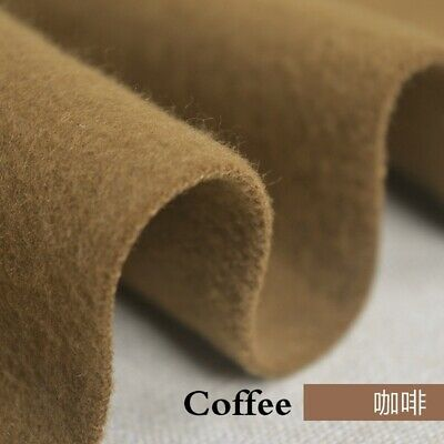 Faux Wool Felt Fabric 1.33mm Thickness Plain for Suit Coat Hat Costume Craft DIY