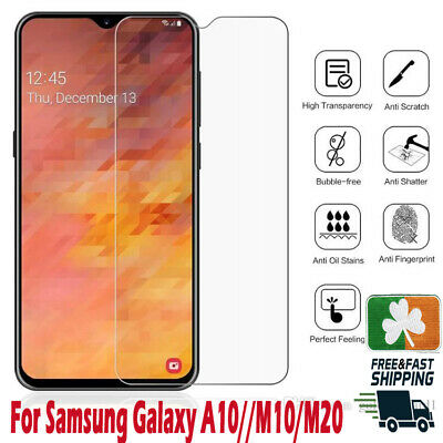 Premium Quality Tempered Glass Screen Protector Film For Samsung Galaxy A10/M10