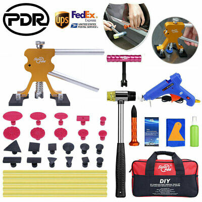 Paintless Dent Removal Lifter Puller Hammer Car Body Repair PDR Tools Kit Bag US