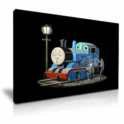 Banksy Thomas Tank Engine Graffiti Modern Art Canvas Print~ 5 Size to Choose