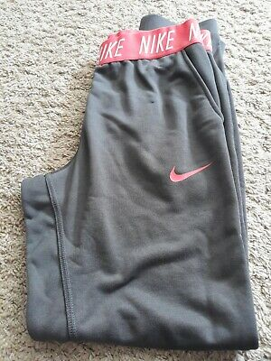 NIKE Dri-Fit Unisex Grey Bottoms Jog Workout With Pockets Size Age 13-15Yrs NEW