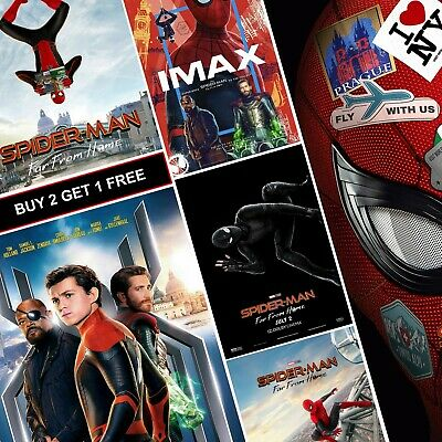 Spiderman Far From Home Posters A4 HD Gloss Prints Art Spider-Man MJ Peter MCU