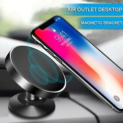Black Magnet Phone Car Holder Magic Magnetic Stand Mount For Phones Universal
